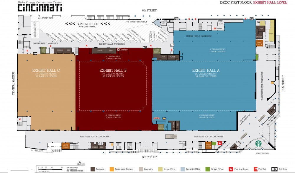 Floor plans plan your event the duke energy center for Trade show floor plan design